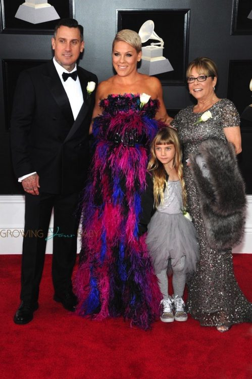 Pink, Carey Hart and daughter Willow head to the Grammy's