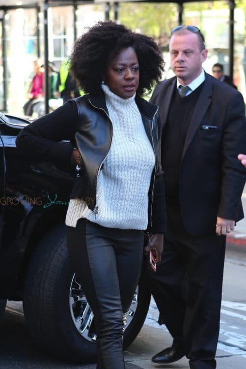 Viola Davis attends the Los Angeles Women's March 2018