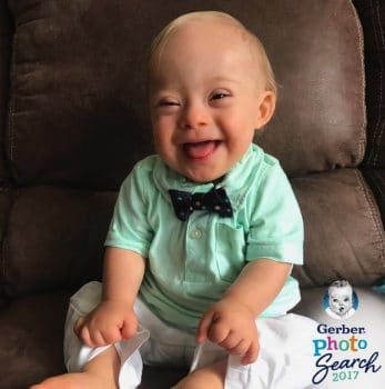 Toddler with Down Syndrome Lucas Warren gerber baby 2018