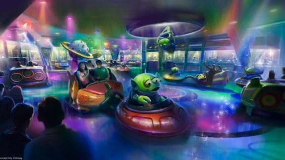 Toy Story Land's Alien Swirling Saucers