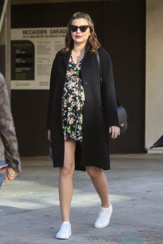 A Very Pregnant Miranda Kerr meets friends for lunch in LA ...