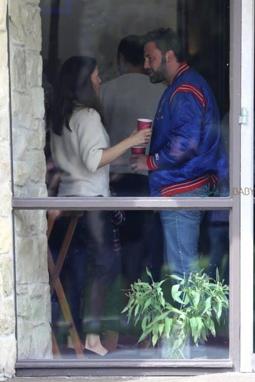 Ben Affleck and Jennifer Garner are photographed chatting after church service