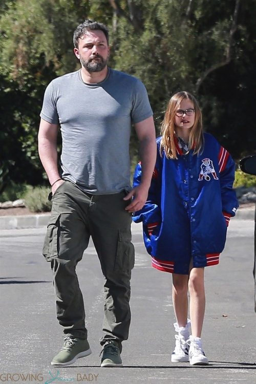 Ben Affleck house hunts with daughter Violet