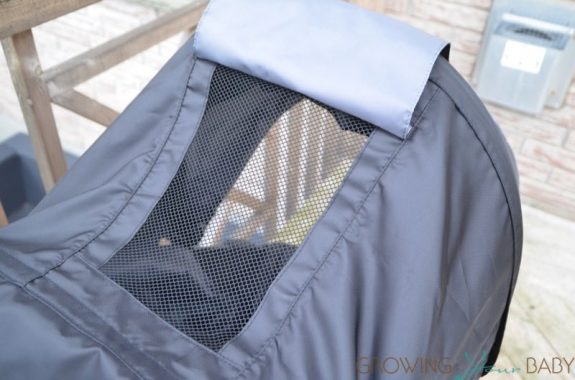 Britax B-Free Stroller review - mesh window