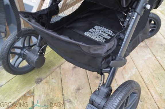 Britax B-Free Stroller review - storage basket