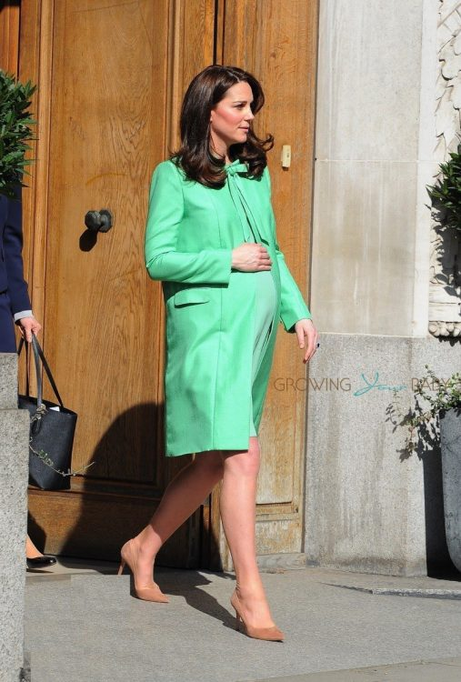 Catherine, Duchess of Cambridge is seen outside of the Royal Society of Medicine