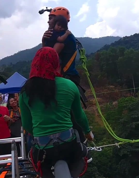 Reality Star Under Fire For 195ft Bungee Jump With Toddler In His Arms