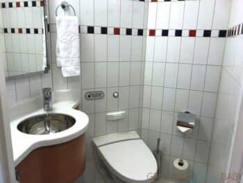 Disney Dream Deluxe Oceanview with Verandah - first bathroom