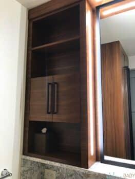 Disney's Coronado Springs Resort Renovated Cabana Room - bathroom cupboards