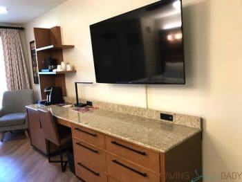 Disney's Coronado Springs Resort Renovated Cabana Room - flatscreen TV