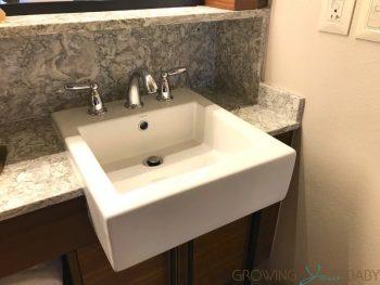 Disney's Coronado Springs Resort Renovated Cabana Room - sink