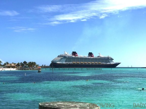 Disney's Private Island Castaway Cay - view of Disney Dream