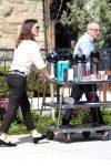 Jennifer Garner serves coffee after church