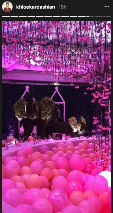 Khloe Kardashian baby shower Bel Air hotel