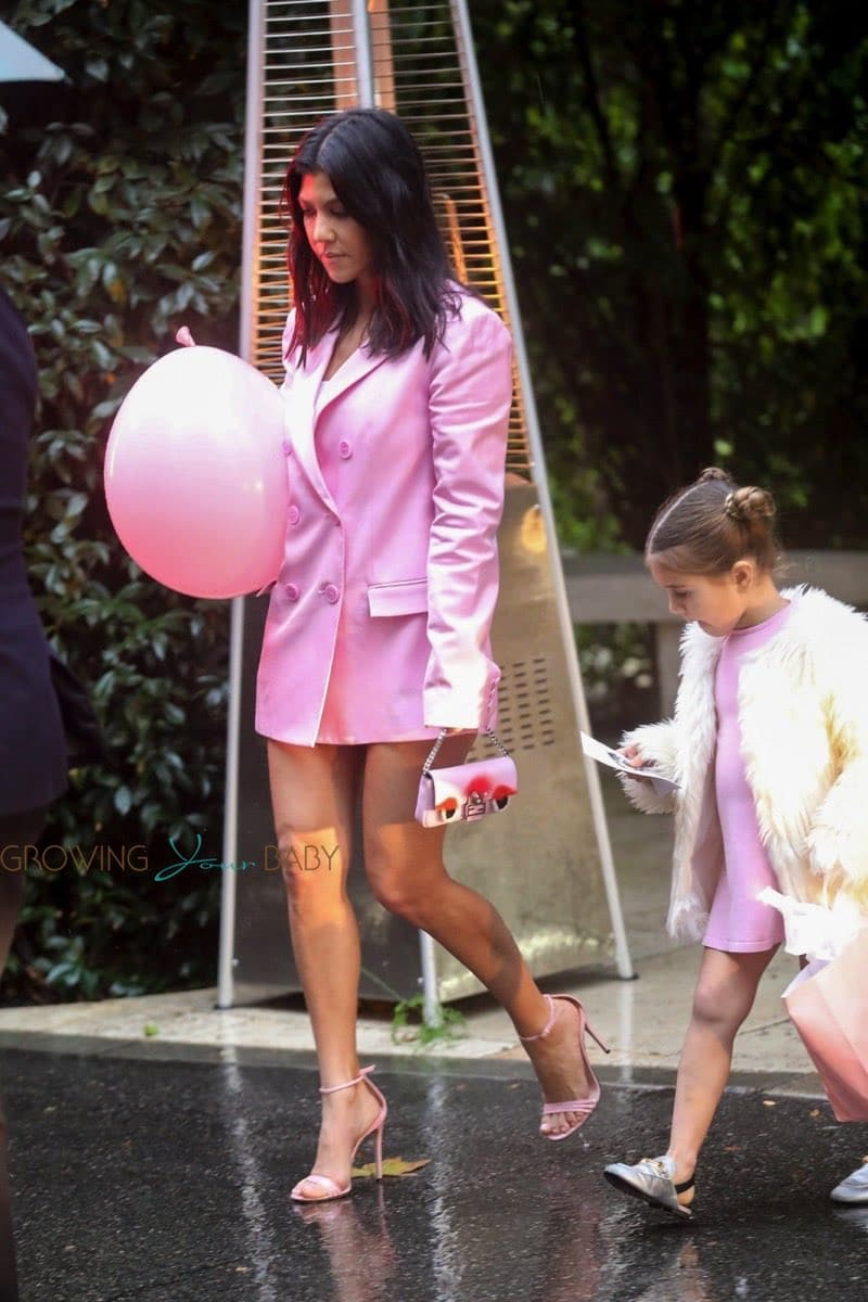 Kourtney Kardashian Leaves Khloe Kardashians Baby Shower With