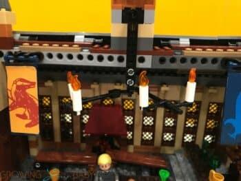 LEGO Harry Potter Hogwarts Great Hall - lighting