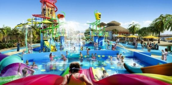 Royal Caribbean water park on cococay