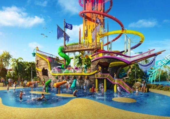Royal Caribbean's waterslide on private island