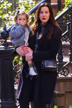Actress Liv Tyler steps out in Manhattan with her daughter Lula