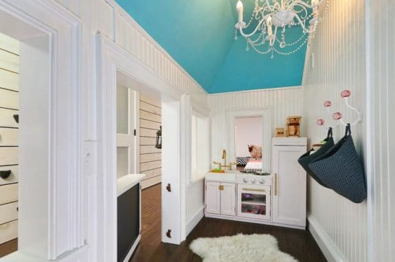 Basement indoor cottage playhouse
