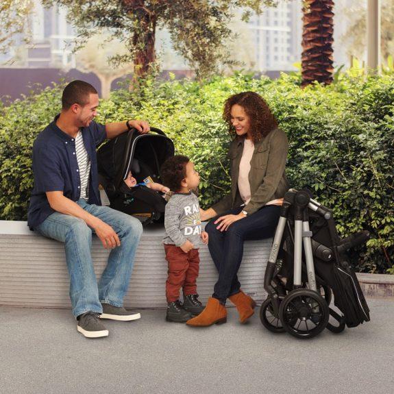 Evenflo Pivot Xpand Travel System - stroller folded