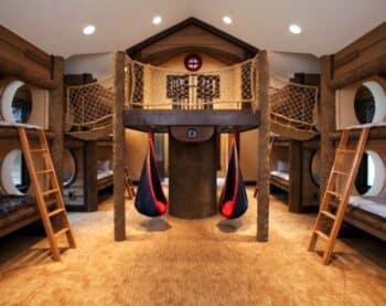 Indoor adventure playhouse and bunkroom