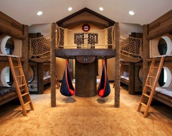 Indoor adventure playhouse and bunkroom