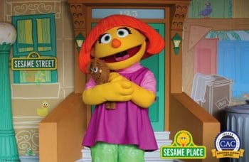 Julia sesame street's character with autism
