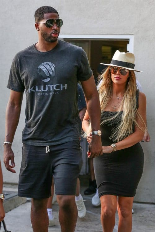 Khloe Kardashian and Tristan Thompson out for dinner in LA