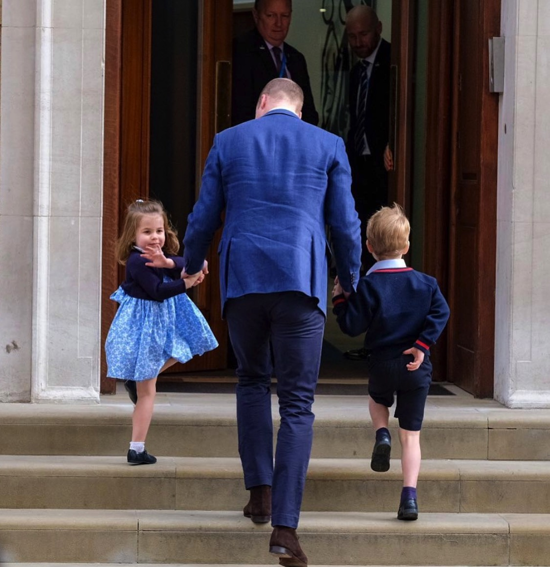 Prince William Arrives At St. Mary's Hospital With Kids