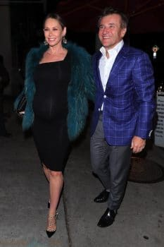 Robert Herjavec and pregnant wife Kym Johnson out for a dinner date at Craig's
