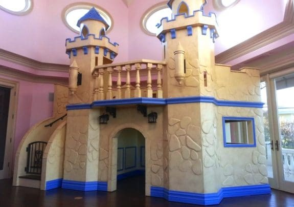 Stellar Woodwerks indoor princess castle playhouse
