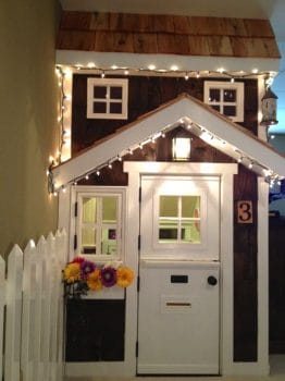 Under the stairs playhouse.