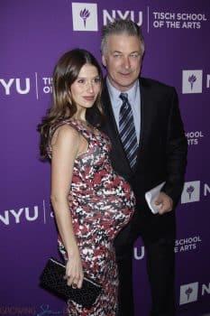 Very pregnant Hilaria and Alec Baldwin at NYU Tisch School of the Arts 2018 Gala