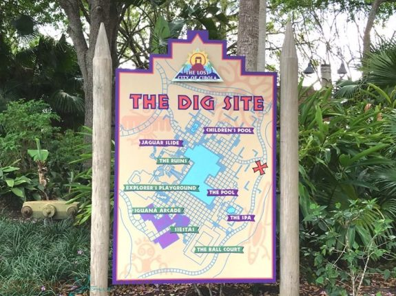 Walt Disney World Coronado Springs Resort - the dig map