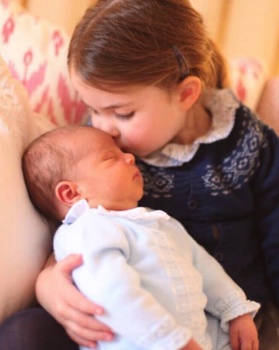 First photo of Princess Charlotte and Prince Louis