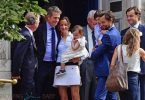 Hugh Grant and Anna Eberstein get married in London UK