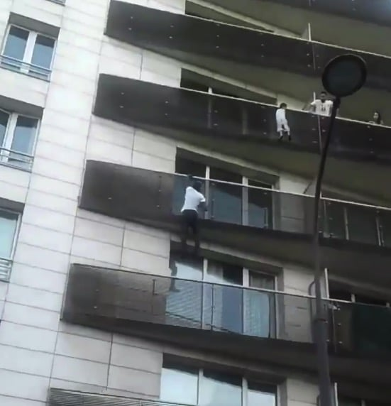 Mamoudou Gassama scales French apartment building to save little boy
