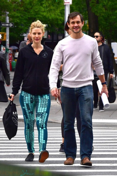 Pregnant Claire Danes and Hugh Dancy out and about in NYC