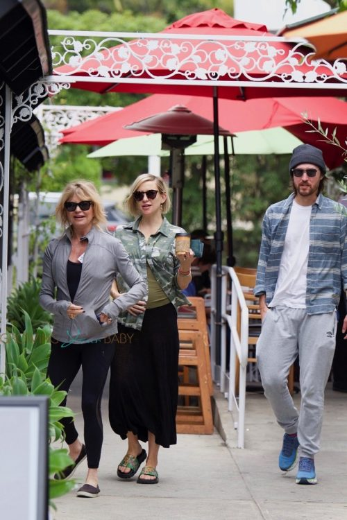 Pregnant Kate Hudson and Danny Fujikawa go shopping with Goldie Hawn in LA