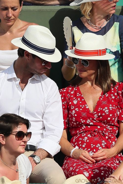 Pregnant Pippa Middleton, James Matthews at the french open