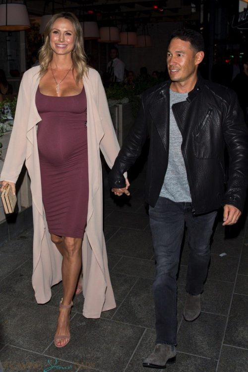 Pregnant Stacy Keibler and Jared Pobre Enjoy A Dinner Date in LA