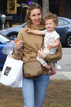 Whitney Port takes her son Sonny out for lunch
