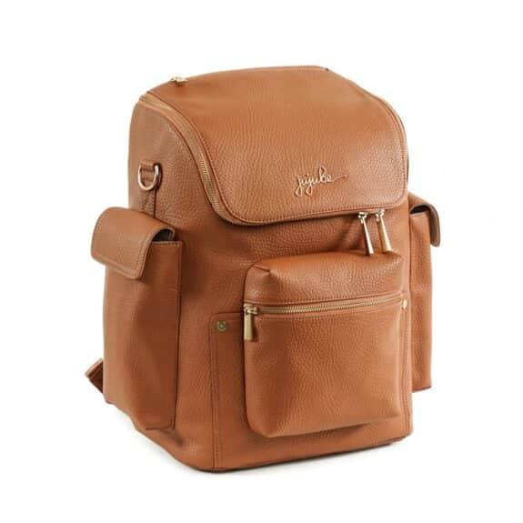 JuJuBe Ever Forever Backpack Brulee Vegan Leather diaperbag