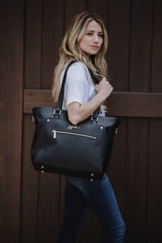 JuJuBe Everyday Tote Noir Vegan Leather diaperbag