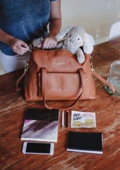 JuJuBe Wherever Weekender Brulee Vegan Leather diaperbag