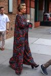 Kate Hudson in maxi dress leaves her hotel in New York