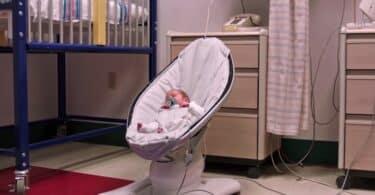 NICU Baby in 4moms MamaRoo