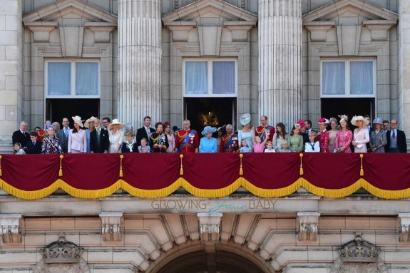 Royal family gathers at Buckingham Palace for the Trooping The Colour in London 2018