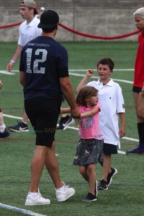 Tom Brady at Best Buddies Charity Event with kids Vivian and Benjamin